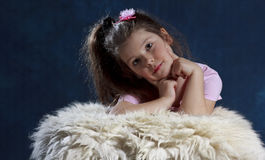 Cute young girl royalty free stock photo
