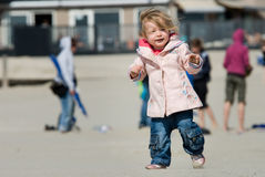 Cute young girl on the beach Royalty Free Stock Photography