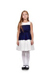 Cute young girl in blue dress Royalty Free Stock Photo