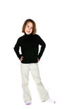 Cute young girl in casual clothing Stock Photo