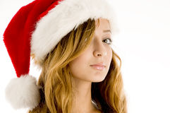 Cute young girl celebrating christmas Stock Image