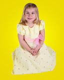 Cute young girl in dress Stock Photography