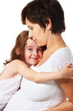 Cute young girl and her mother Royalty Free Stock Photography