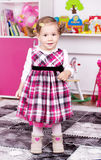 Cute young girl inside stock images