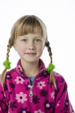 Cute young girl in pigtails Stock Image