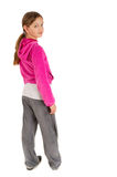 Cute young girl in pink sport jacket Royalty Free Stock Photo