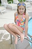 Cute Young Girl at Pool Royalty Free Stock Image