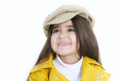 Cute young girl portrait. Over white Stock Photos