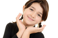 Cute young girl portrait Stock Images