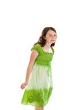 Cute Young Girl portrait isolated on white background Royalty Free Stock Photography
