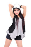 Cute young girl posing with hat Stock Image