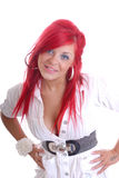 Cute young girl with red hair Royalty Free Stock Images