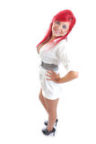 Cute young girl with red hair Royalty Free Stock Photo