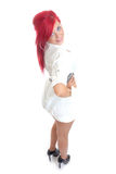 Cute young girl with red hair Stock Photos