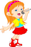Cute young girl singing Royalty Free Stock Photography