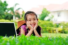 Cute of young girl smiling Stock Photography