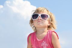 Cute young girl in sun glasses Royalty Free Stock Images