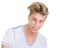 Cute young guy smiling Royalty Free Stock Photos