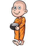 Cute young monk Stock Photo