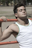 Cute young muscular guy Royalty Free Stock Photography