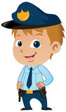 Cute Young Policeman Stock Photos