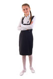 Cute Young Schoolgirl. Royalty Free Stock Images