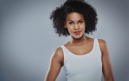 Cute young serious Black woman Royalty Free Stock Images