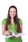 Cute young student stock image