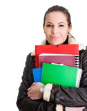 Cute young student girl. Stock Images