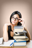 Cute young student girl. Stock Photo