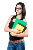 Cute young student girl. Stock Image