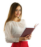 Cute young student girl with books Stock Photo