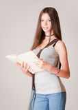 Cute young student girl. Royalty Free Stock Photography