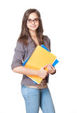 Cute young student. Royalty Free Stock Photography