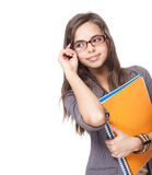 Cute young student. Royalty Free Stock Photos
