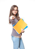 Cute young student. Royalty Free Stock Image