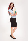 Cute young student woman. Stock Photography