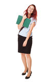 Cute young student woman. Stock Images