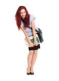Cute young student woman. Royalty Free Stock Photos