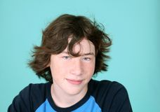 Cute young teen boy Stock Photo