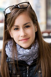 Cute young teen student girl. Stock Images