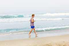 Cute young teenage boy at the beach Royalty Free Stock Images