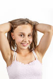 Cute young teenage girl Stock Photo