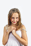 Cute young teenage girl Stock Photography