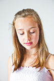 Cute young teenage girl Stock Images