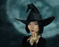 Cute young witch royalty free stock photo