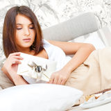 Cute young woman stock photo