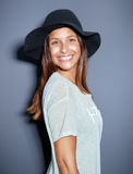 Cute young woman with a big beaming smile Royalty Free Stock Images