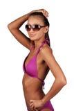 Cute young woman in bikini Royalty Free Stock Images