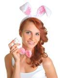 Holding egg Royalty Free Stock Photos